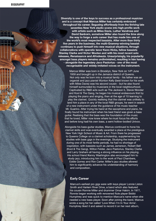 Sample page from Marcus Miller Highlights from Renaissance