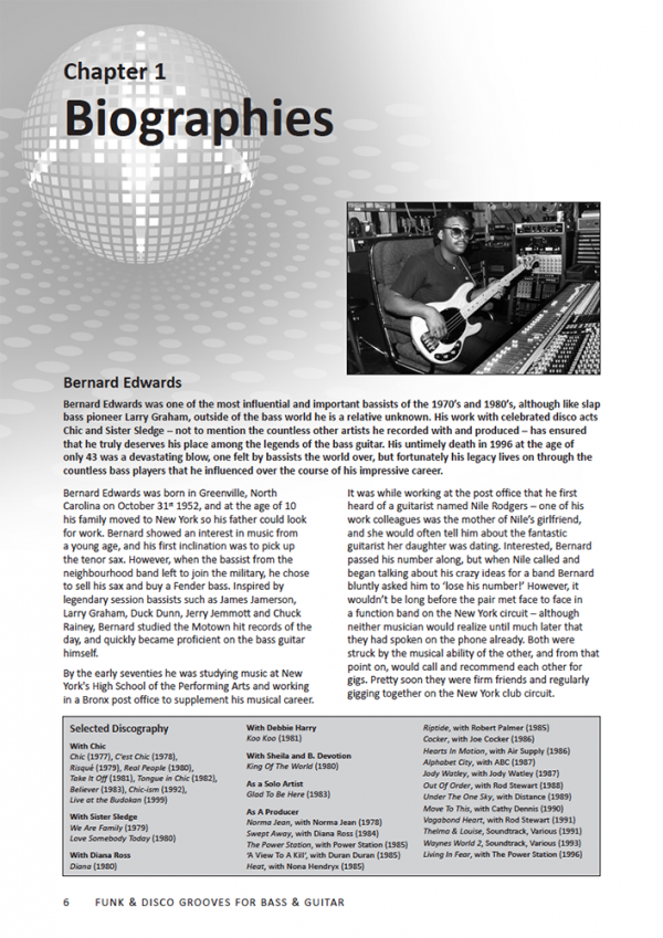 Sample page from Nile Rodgers and Bernard Edwards Funk and Disco Grooves