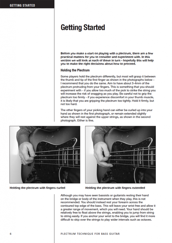 Sample page from Plectrum Technique for Bass Guitar