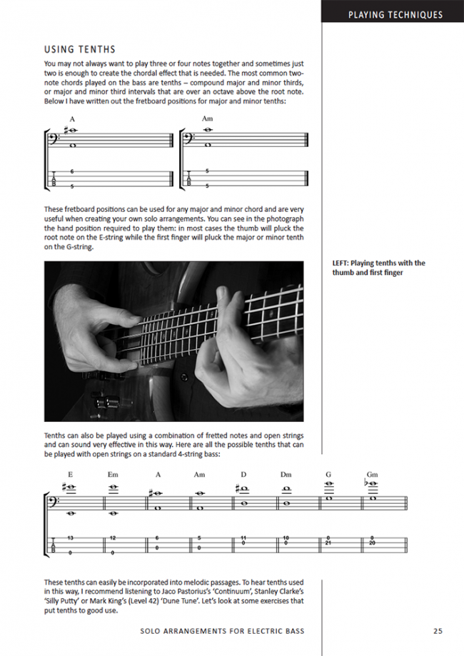 Sample page from Solo Arrangements for Electric Bass