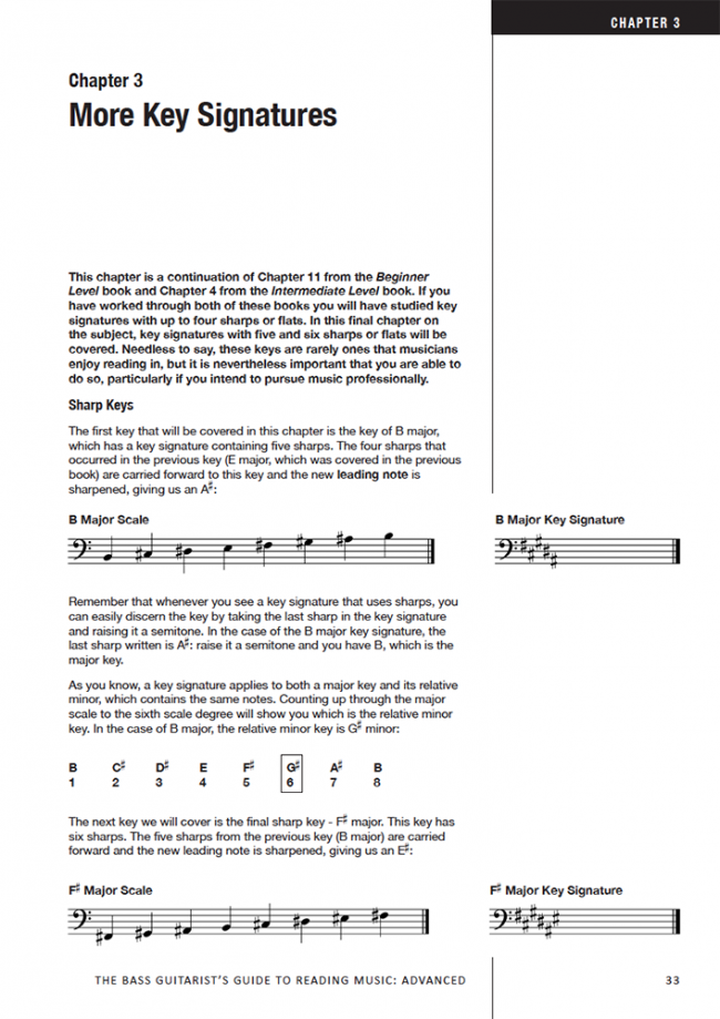 Sample page from The Bass Player's Guide to Reading Music - Advanced