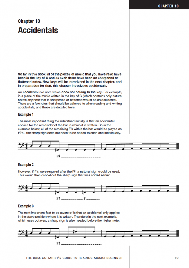 Sample page from The Bass Player's Guide to Reading Music - Beginner