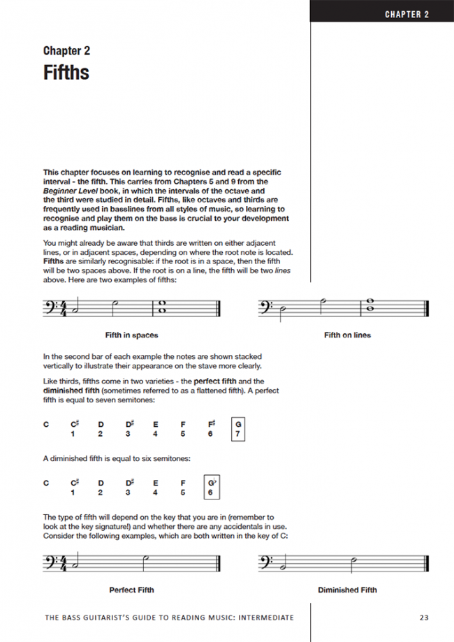 Sample page from The Bass Player's Guide to Reading Music - Intermediate