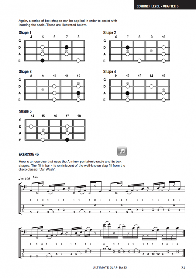 Sample page from Ultimate Slap Bass