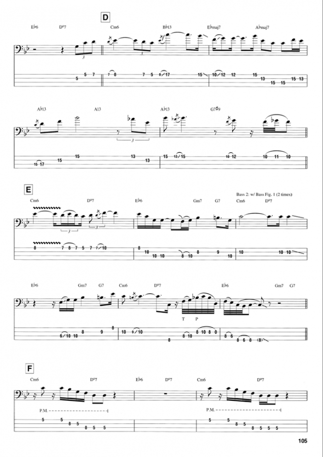Sample page from Best of Marcus Miller