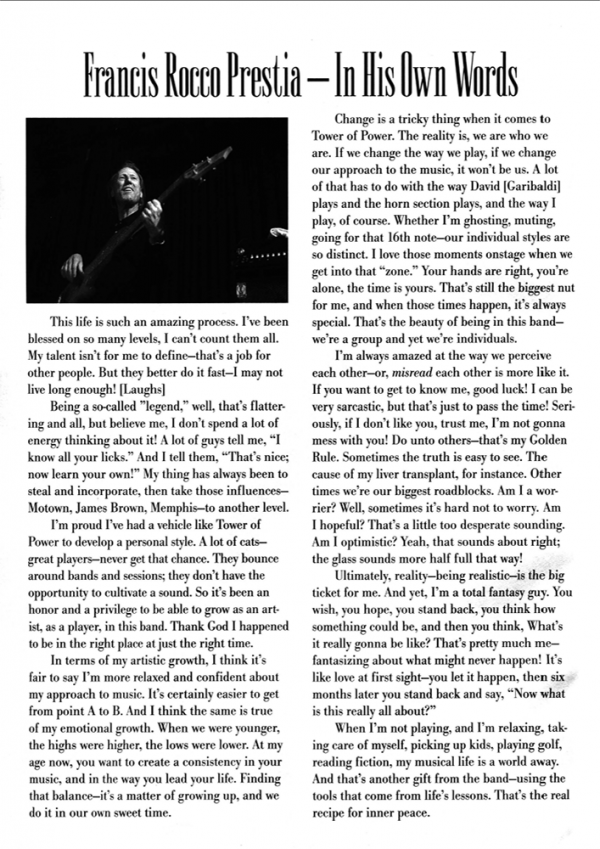 Sample page from Best of Tower of Power for Bass