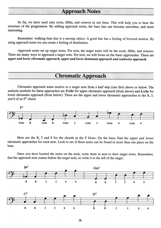 Sample page from Building Walking Basslines