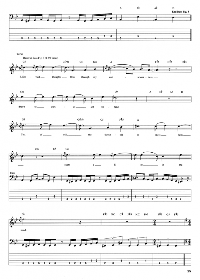 Sample page from Dream Theater Bass Anthology