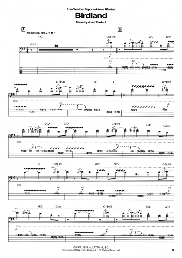 Sample page from Jaco Pastorius The Greatest Jazz-Fusion Bass Player