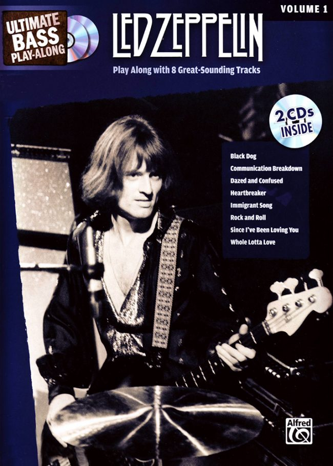 Front cover of Led Zeppelin bass play-along
