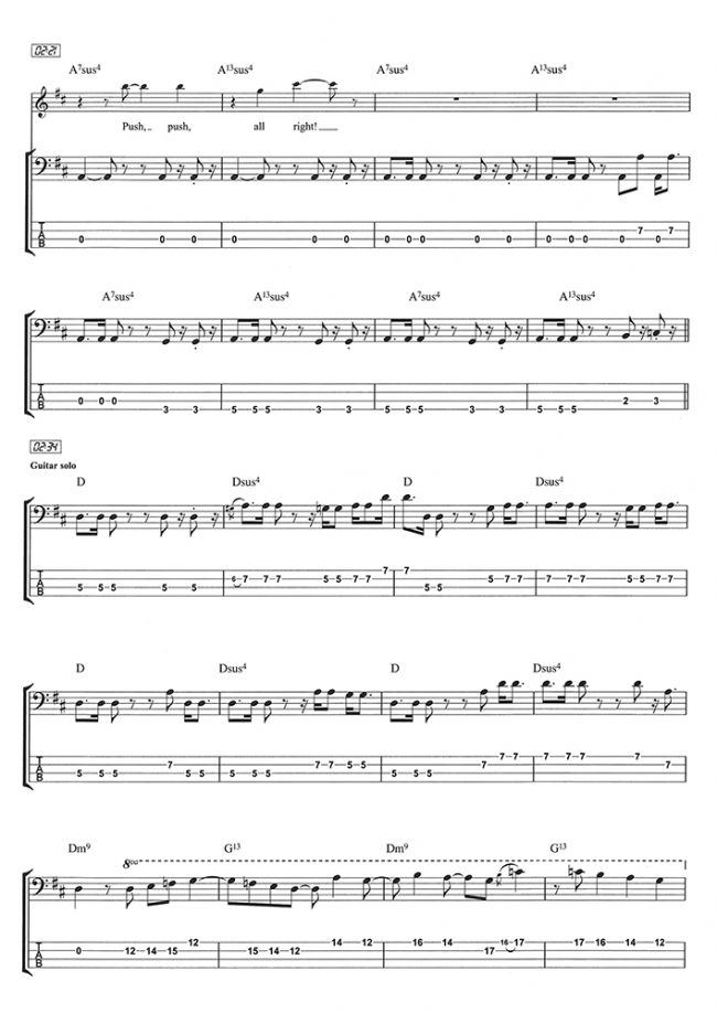 Sample page from Play Bass With... The Best of Led Zeppelin Vol 2