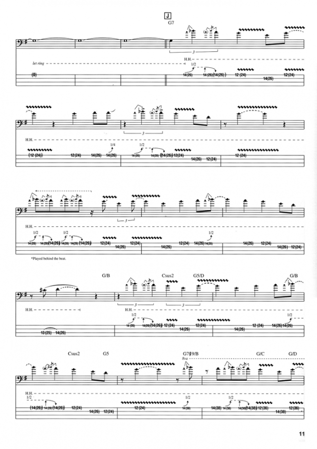 Sample page from The Essential Jaco Pastorius