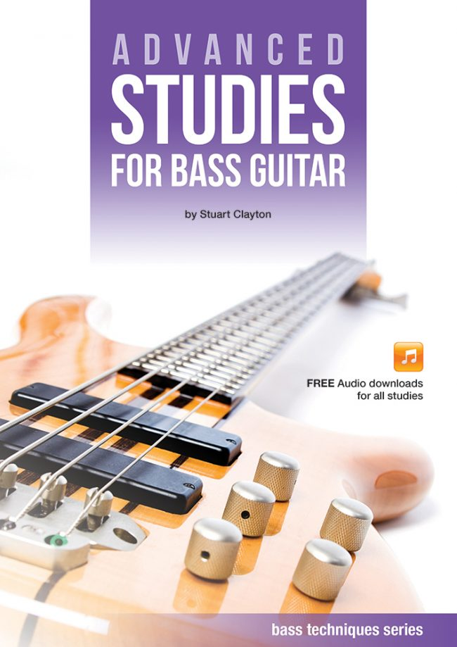 Front cover of Advanced Studies for Bass Guitar book