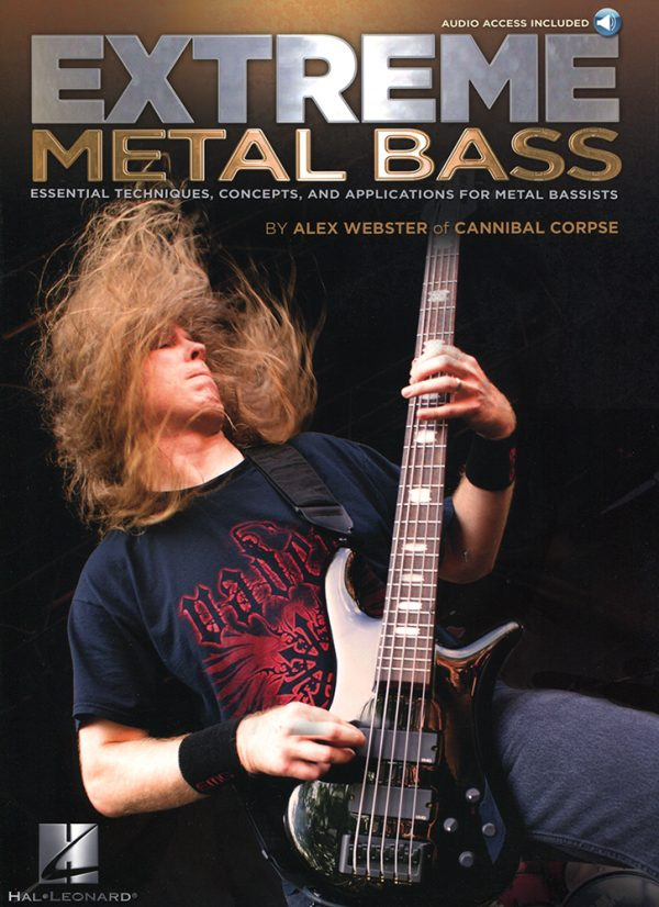 Front cover of Alex Webster - Extreme Metal Bass book