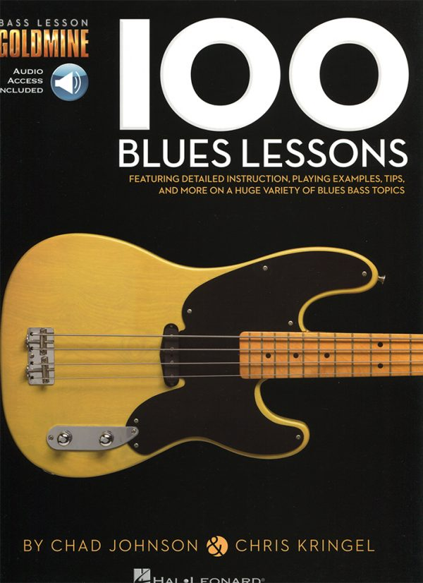 Front cover of Bass Lesson Goldmine - 100 Blues Lessons book