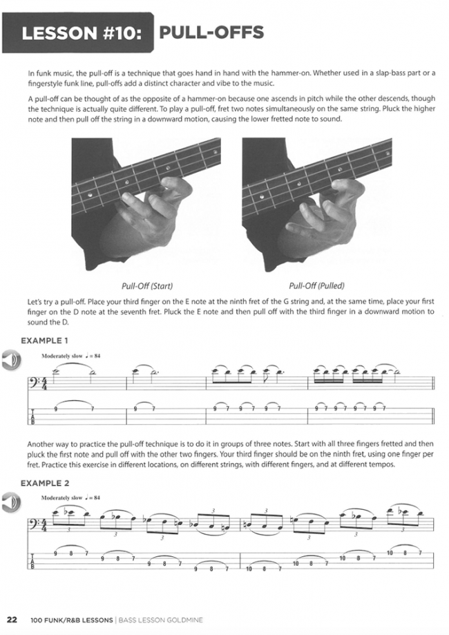 Sample page from Bass Lesson Goldmine - 100 Funk Lessons