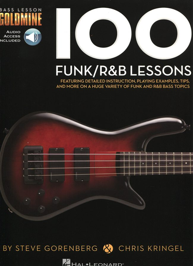 Front cover of Bass Lesson Goldmine - 100 Funk & R&B Lessons book