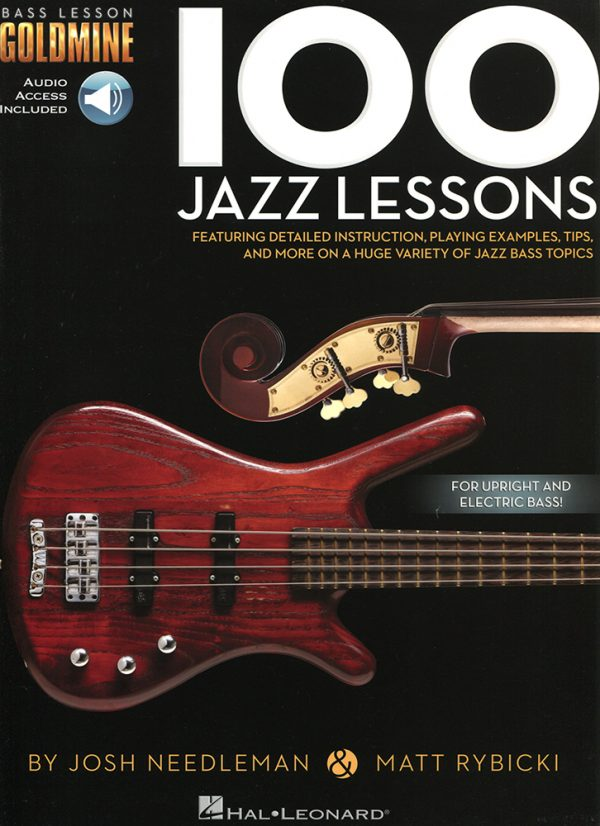 Front cover of Bass Lesson Goldmine - 100 Jazz Lessons book