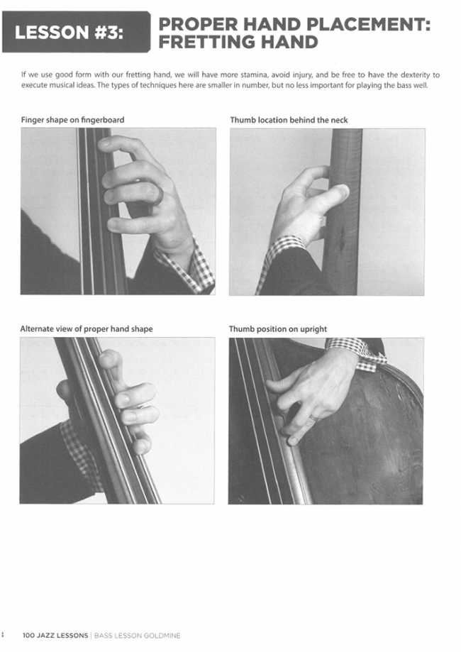Sample page from Bass Lesson Goldmine - 100 Jazz Lessons