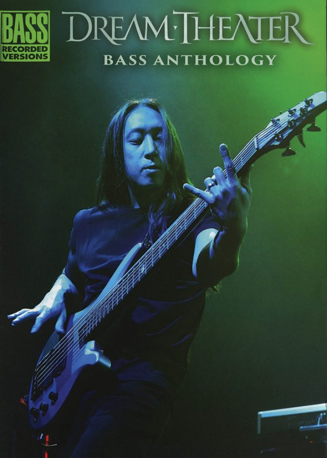 Front cover of Dream Theater Bass Anthology book