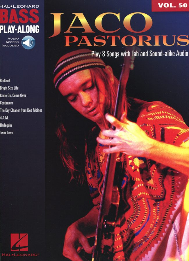 Front cover of Jaco Pastorius - Bass Play-Along book