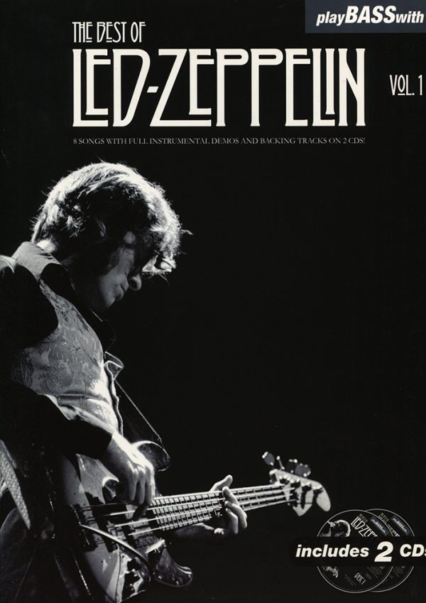 Front cover of Play Bass with Led Zeppelin Volume 1 book