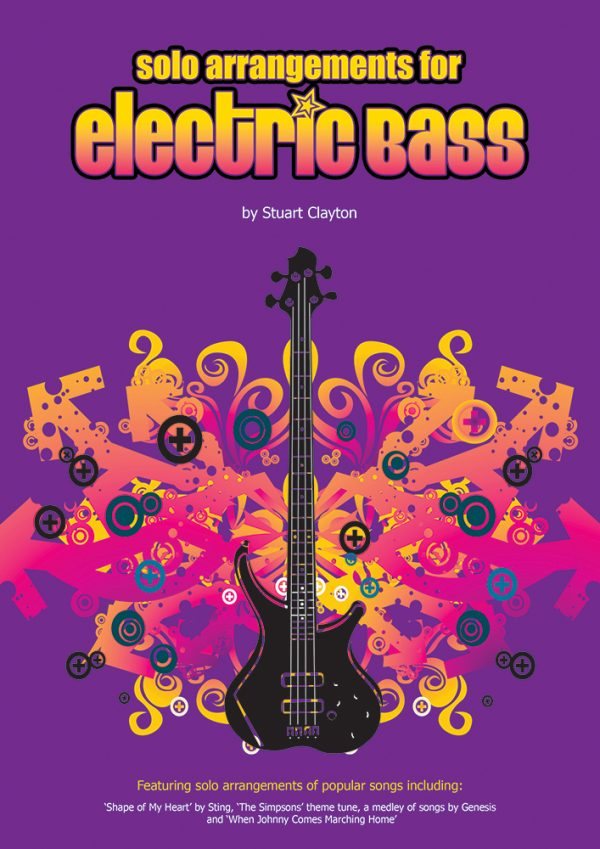 Front cover of Solo Arrangements for Electric Bass book