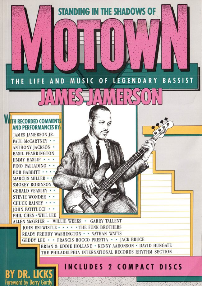 Front cover of Standing in the Shadows of Motown bass transcription book
