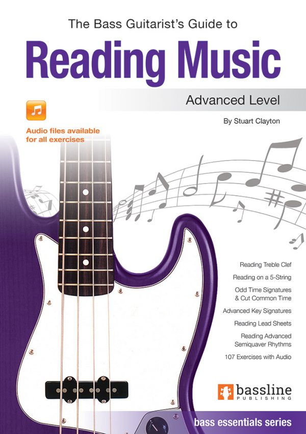 Front cover of The Bass Guitarist's Guide to Reading Music - Advanced book