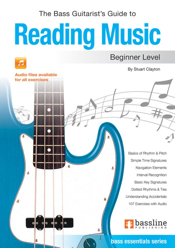 Front cover of The Bass Guitarist's Guide to Reading Music - Beginner book