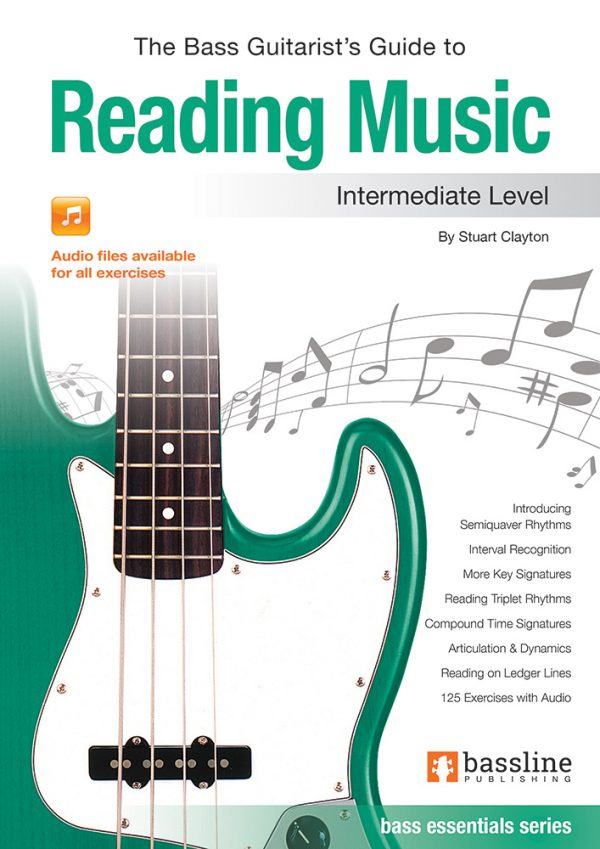 Front cover of The Bass Guitarist's Guide to Reading Music - Intermediate book