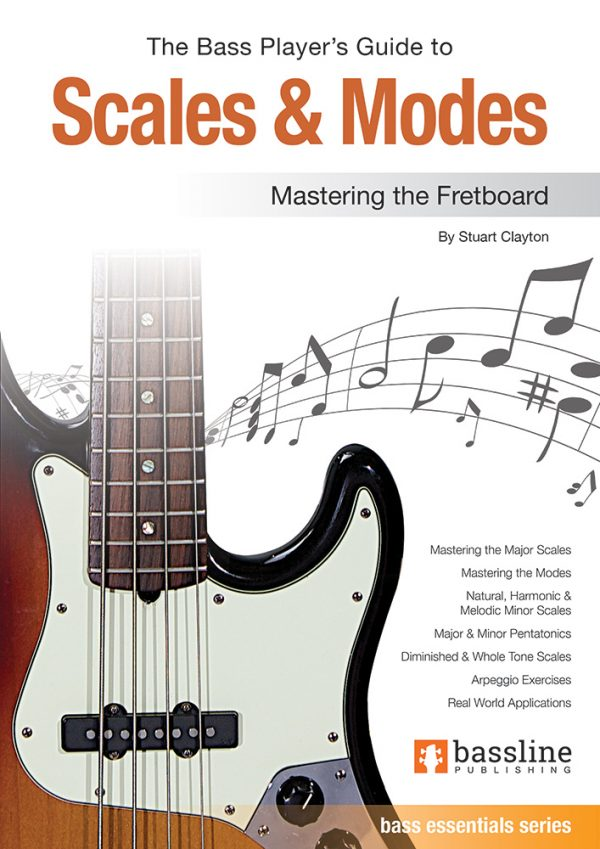 Front cover of The Bass Player's Guide to Scales & Modes book