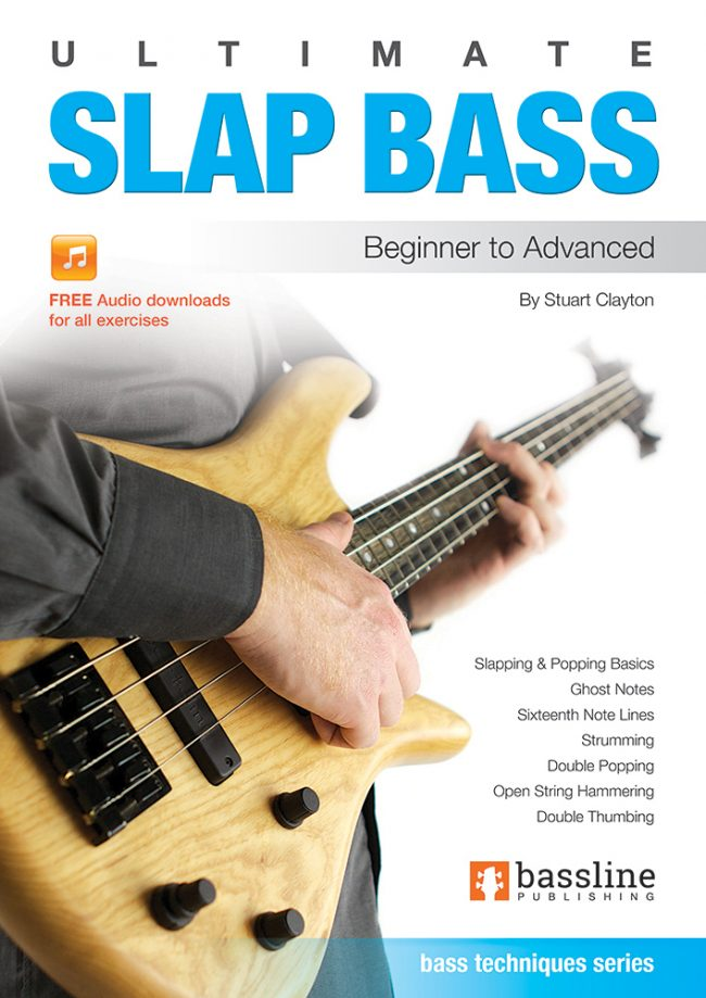 Front cover of Ultimate Slap Bass book