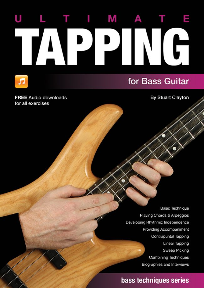Front cover of Ultimate Tapping for Bass Guitar book