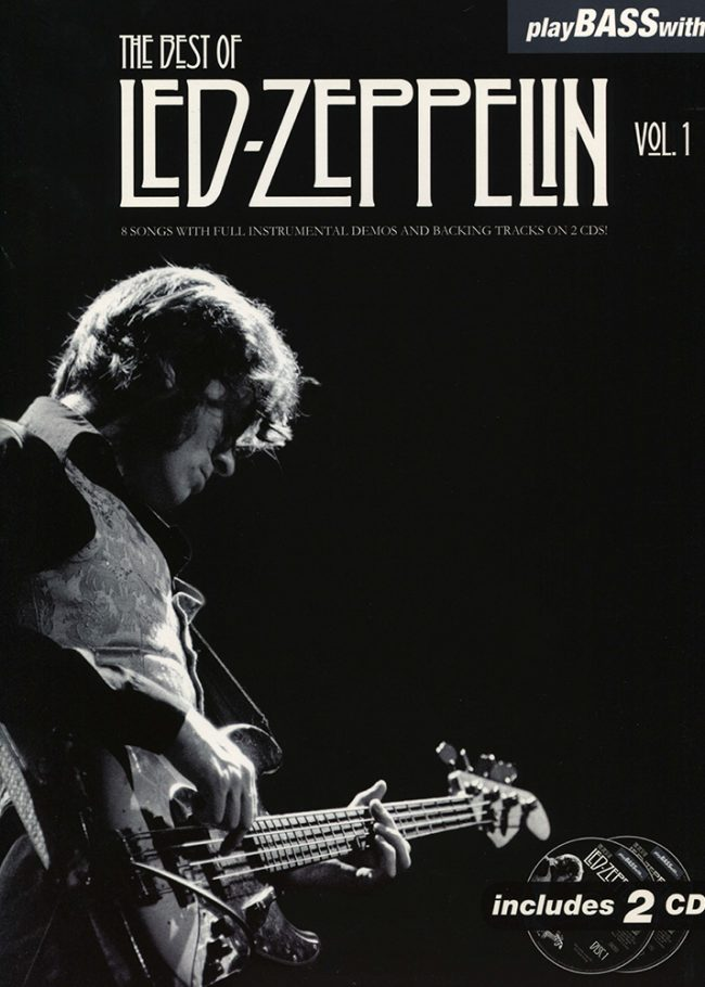 ront cover of Play Bass With… The Best of Led Zeppelin Volume 1
