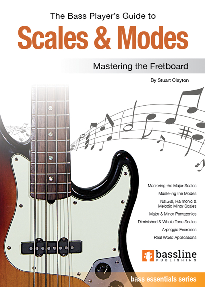5 STRING BASS GUITAR SCALES ALL MODES /& KEYS PDF BOOK