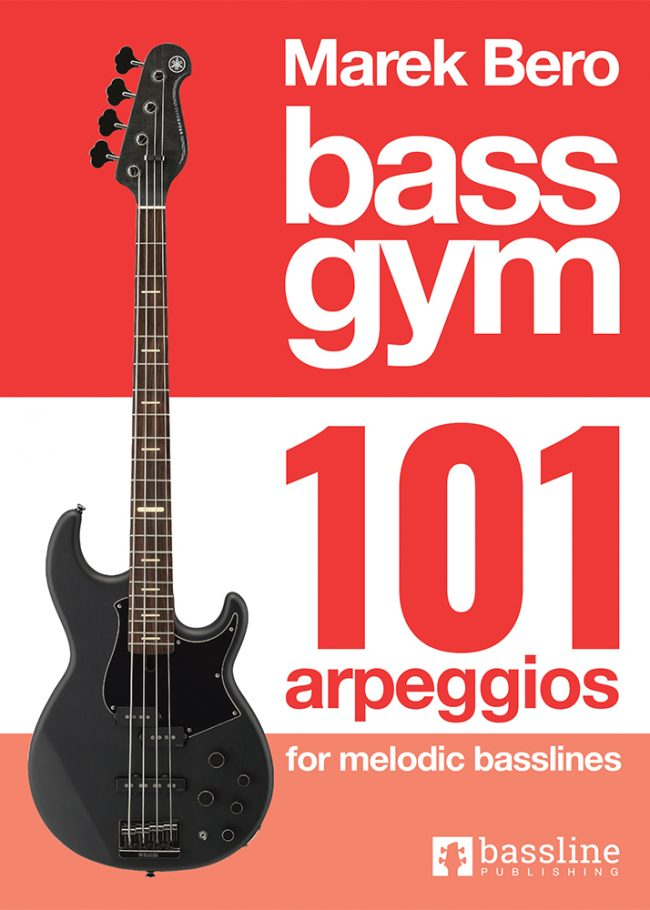 Front cover of Bass Gym - 101 Arpeggios for Melodic Basslines, Sample page