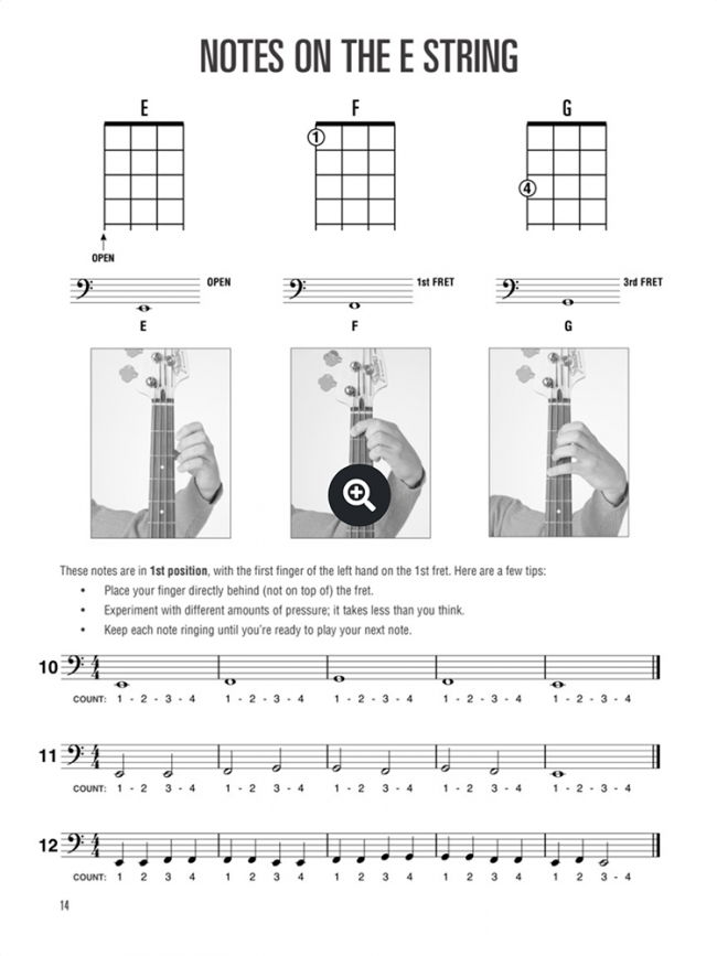 Sample page from Hal Leonard Bass Method - Complete Edition