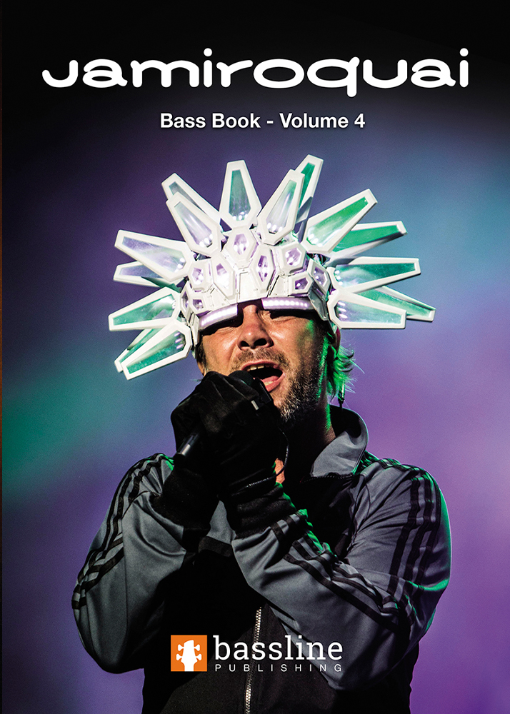 Front cover of The Jamiroquai Bass Book – Volume 4