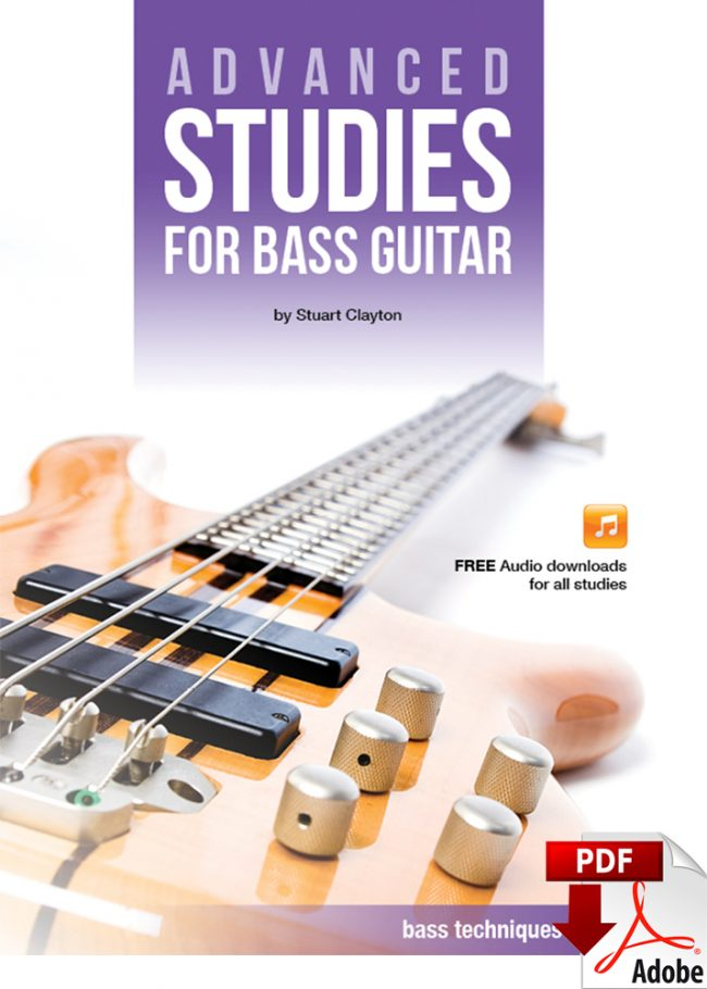 Front cover of Advanced Studies for Bass Guitar