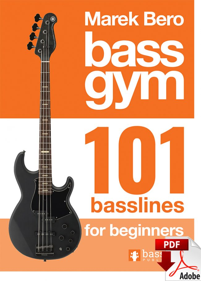 Front Cover of Bass Gym - 101 Basslines for Beginners