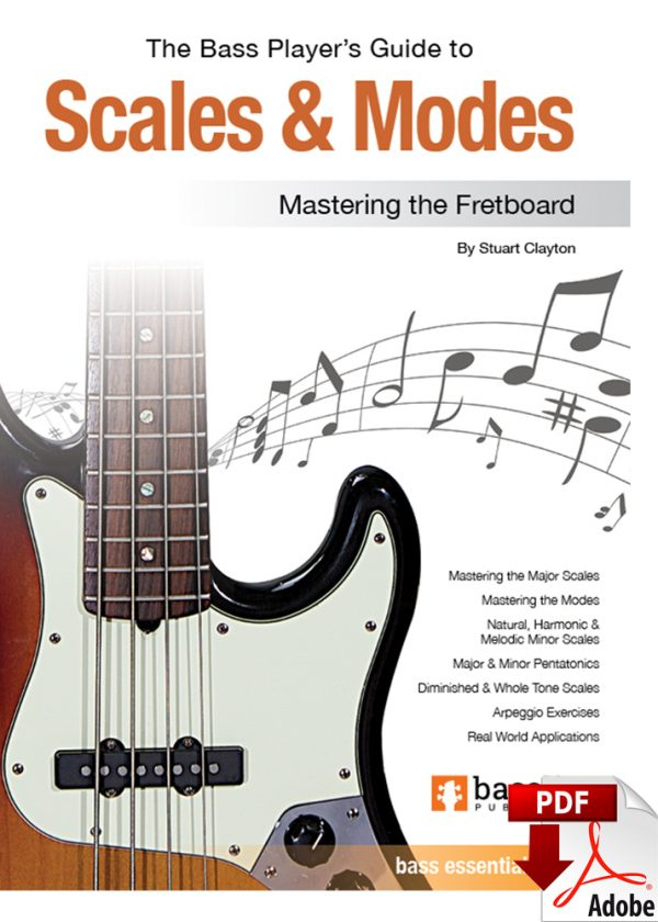 Front cover of The Bass Player's Guide to Scales & Modes