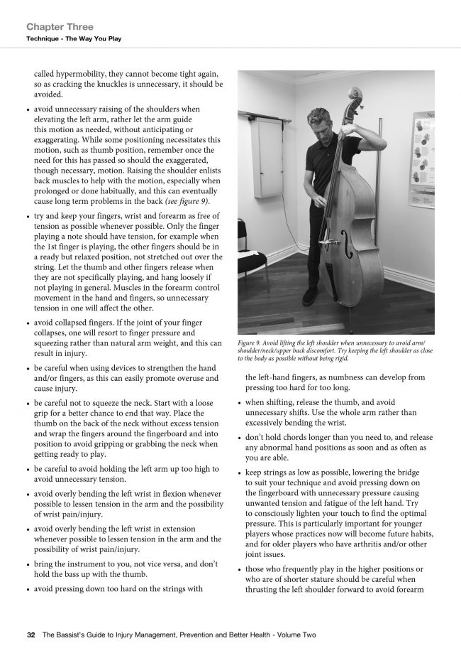 Sample Page from The Bassist's Guide to Injury Management, Prevention and Better Health - Volume Two