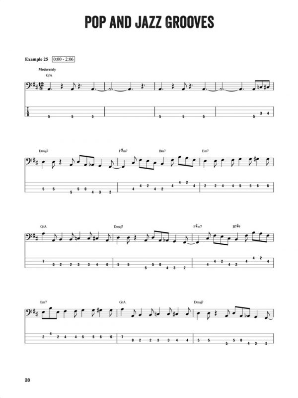 Sample page from Louis Johnson – Bass Master Class