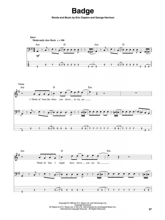 Sample page from Ultimate Guitar – Bass Bonanza