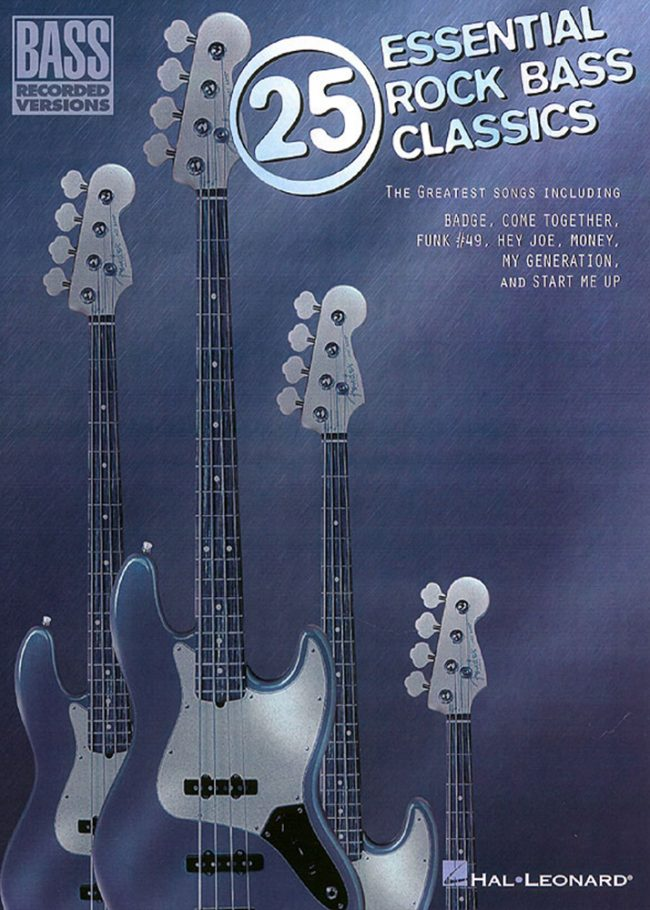 Front cover of 25 Essential Rock Bass Classics
