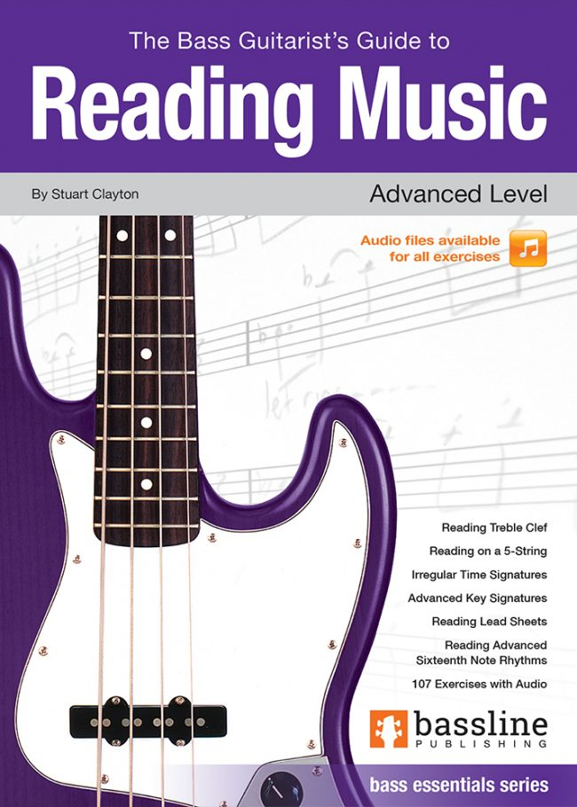 Front cover of The Bass Guitarist's Guide to Reading Music - Advanced Level
