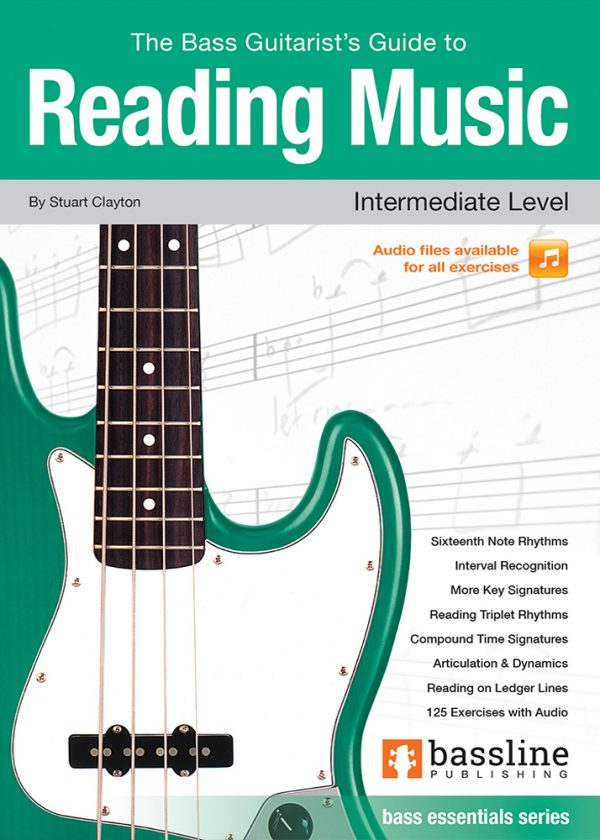 Front cover of The Bass Guitarist's Guide to Reading Music - Intermediate Level